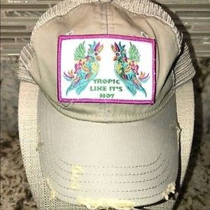 TROPIC LIKE ITS HOT Hat DISTRESSED JUDITH MARCH eacc87992a4c